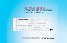 isplata kredita i stipendija unicredit banka