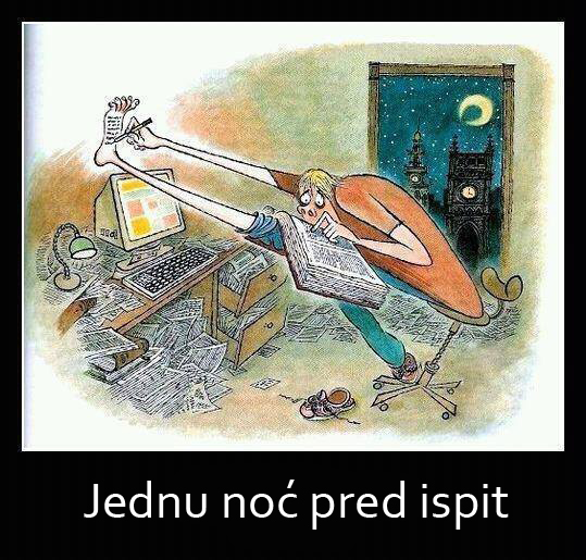 noc pred ispit