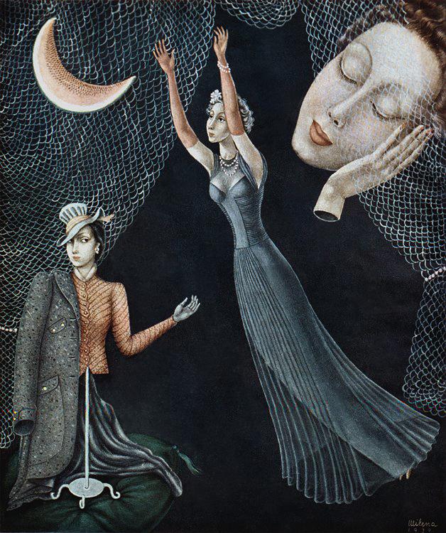 Milena_Pavlovic_Barili_-_Hot_pinkwith_cool_gray_1940_Vogue_slika koricu zenske citanke